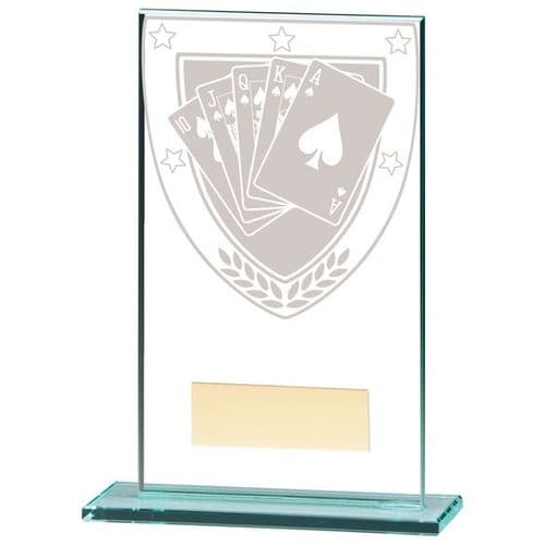 Millennium Poker Jade Glass Award 140mm