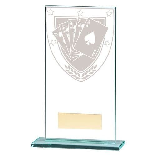 Millennium Poker Jade Glass Award 160mm