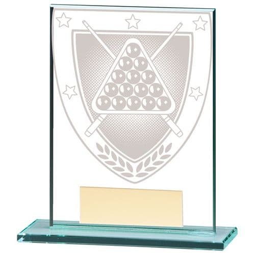 Millennium Snooker Jade Glass Award 110mm