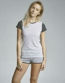 MOLLY FRONT SUB T WHITE/BLACK  XS'