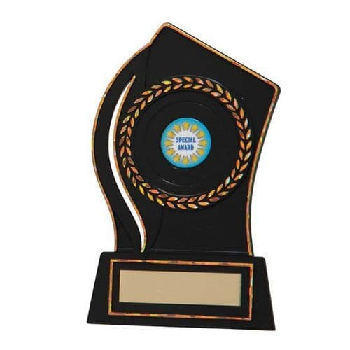 Quest Black Plastic Plaque Award 130mm