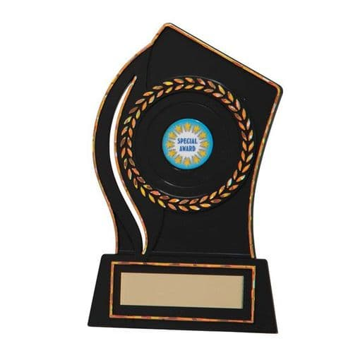 Quest Black Plastic Plaque Award 150mm