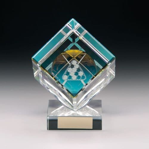 Victorious Pool Crystal Cube Award 90mm