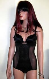 Black Lace Front Full Body Shaper