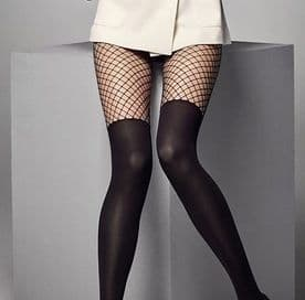 Calzerotto Rete 40 Den Opaque & Fishnet Tights