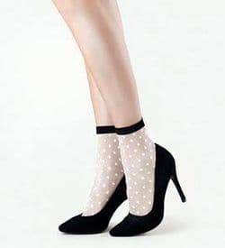 Fiore Bubble Gum Nude Spotted Ankle Socks