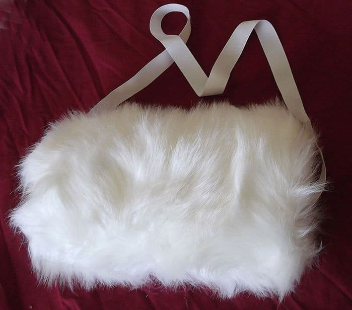 White Fur Bridal Hand Muff