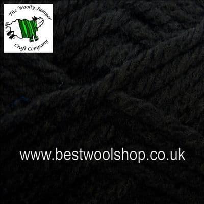 0008 - BLACK - KING COLE BIG VALUE SUPER CHUNKY KNITTING YARN