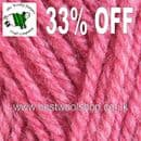 0389 - CYCLAMEN - KING COLE FASHION ARAN KNITTING YARN WITH 30% WOOL - 100G BALL - 33% OFF
