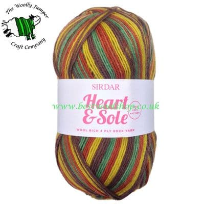 053 - CLEVER CLOGS - SIRDAR HEART & SOLE 4 PLY KNITTING YARN WITH FREE SOCK PATTERN - 20% OFF