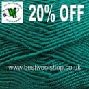 0867 - JADE - KING COLE SMOOTH DK MICROFIBRE KNITTING YARN - 20% OFF