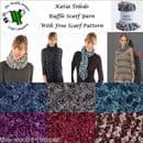 1/2 PRICE - KATIA 100G TOLEDO ONE BALL SCARF YARN - FREE SCARF KNITTING PATTERN