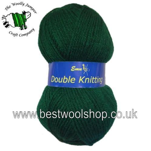 112 - BOTTLE GREEN - EMU DK KNITTING YARN - MADE IN UK