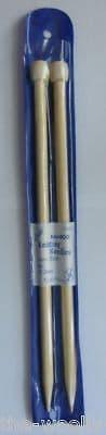 12.00mm - LENGTH 35cm LESUR BAMBOO KNITTING NEEDLES - PAIR