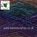 1593 - REGENCY - KING COLE SHINE DK SELF STRIPING GLITTER KNITTING & CROCHET YARN