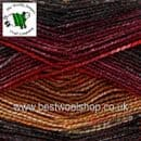 1594 - LAVA - KING COLE SHINE DK SELF STRIPING GLITTER KNITTING & CROCHET YARN