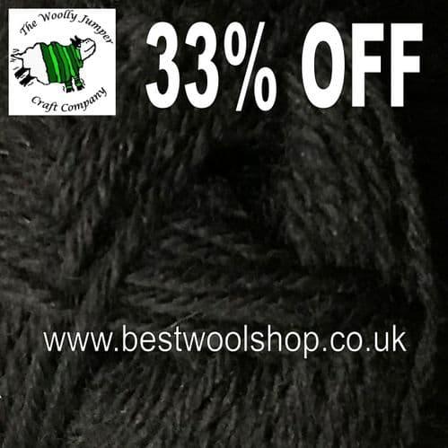 2133 BLACK - KING COLE SUPERWASH WOOL DK KNITTING YARN 33% OFF MADE IN UK