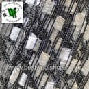 22302 - ICE YARNS 'MINI LADDER' TRELLIS SCARF & NECKLACE KNITTING YARN - WHITE BLACK