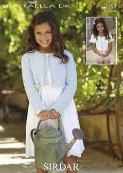 2352 - SIRDAR RAFFAELLA DK LONG & SHORT SLEEVED CARDIGAN KNITTING PATTERN - TO FIT 2 TO 13 YEARS