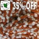 342 - DOTTY ORANGE - SIRDAR SNUGGLY SNOWDROPS CHUNKY KNITTING YARN - 35% OFF