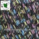 45880 - ICE YARNS TRELLIS LIGHT LADDER SCARF NECKLACE KNITTING YARN - 250 METRES - GREEN BLUE LILAC