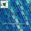 46692 - ICE YARNS 'MINI LADDER' TRELLIS SCARF & NECKLACE KNITTING YARN - BLUE TURQUOISE MIX