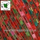 46974 - ICE YARNS 'MINI LADDER' TRELLIS SCARF & NECKLACE KNITTING YARN - RED PINK GREEN
