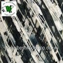 56857 ICE YARNS 'LADDER' TRELLIS SCARF & NECKLACE KNITTING YARN 50G - BLACK WHITE GREY