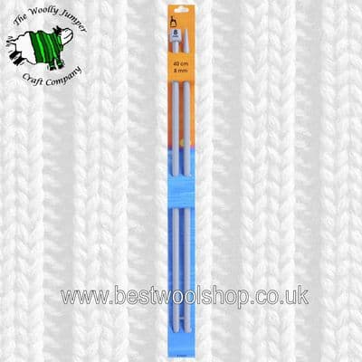8mm -  LENGTH 40cm - PONY CLASSIC STRAIGHT KNITTING NEEDLES - PAIR