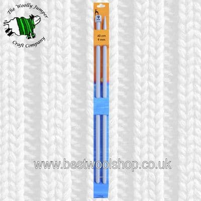 9mm -  LENGTH 40cm - PONY CLASSIC STRAIGHT KNITTING NEEDLES - PAIR