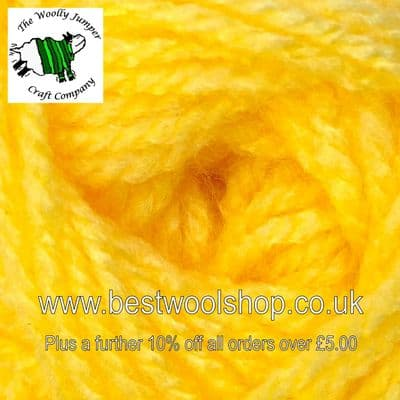 CT11 - YELLOW - JAMES C BRETT CRAFTER DK KNITTING YARN 50G