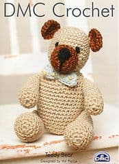 DMC 11887L/2 - TEDDY BEAR CROCHET PATTERN - FINISHED HEIGHT 15CM - 6 INCHES