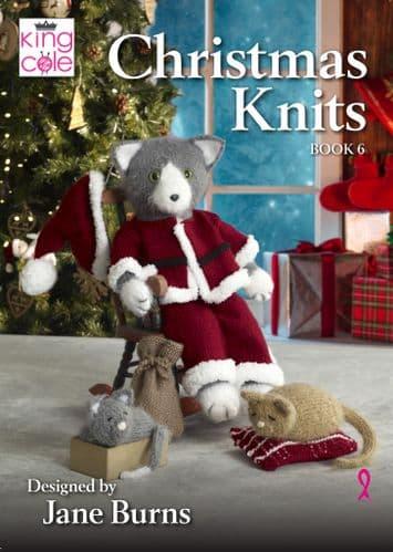 KING COLE CHRISTMAS KNITS BOOK 6 - KNITTING PATTERNS BY JANE BURNS