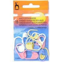PACK OF 15 - PONY SAFETY STITCH MARKERS - 5 LARGE - 10 MEDIUM ASSORTMENT