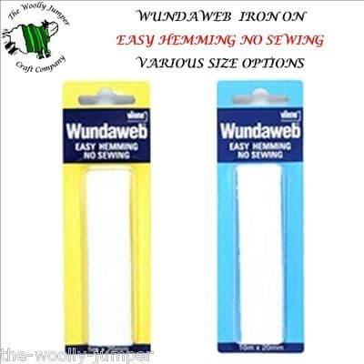 VILENE WUNDAWEB - EASY HEMMING - NO SEWING - VARIOUS SIZE OPTIONS